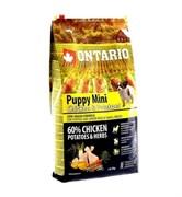 Сухой корм ONTARIO для щенков малых пород с курицей и картофелем