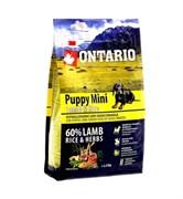 Сухой корм ONTARIO для щенков малых пород с ягненком и рисом