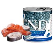 Консервы FARMINA ND DOG OCEAN SALMON/COD для взрослых собак всех пород с лососем и филе трески