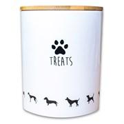 Керамический бокс для хранения лакомств и корма КерамикАрт TREATS для собак 1300 мл