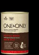 Консервы ONE&ONLY для собак всех пород с говядиной в желе