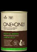 Консервы ONE&ONLY для собак всех пород с ягненком в желе