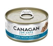 Беззерновые консервы CANAGAN для котят и кошек с тунцом и мидиями (Cat Tuna with Mussels)