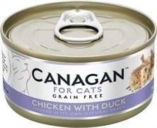Беззерновые консервы CANAGAN для котят и кошек с цыпленком и уткой (Cat Fresh Chicken with Duck)