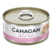 Беззерновые консервы CANAGAN для котят и кошек с цыпленком и ветчиной (Cat Fresh Chicken with Ham)