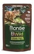 Паучи беззерновые Monge BWild для котят и кошек из буйвола с овощами (Pouch Grain Free Adult Cat Buffalo with vegetables)
