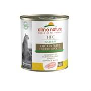 Консервы ALMO NATURE для взрослых кошек куриное филе Classic Adult Cat Chicken Fillet
