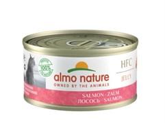 Консервы ALMO NATURE HFC для взрослых кошек с лососем Jelly Adult Cat Salmon