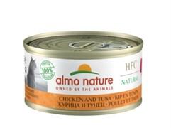 Консервы ALMO NATURE для взрослых кошек с курицей и тунцом 75% мяса Legend Adult Cat Chicken Tuna