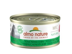 Консервы ALMO NATURE для взрослых кошек с тунцом и сладкой кукурузой Legend Adult Cat Tuna Sweet Corn