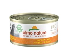 Консервы ALMO NATURE HFC для взрослых кошек с курицей в желе Jelly Adult Cat Imperial Chicken