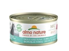 Консервы ALMO NATURE для взрослых кошек с форелью и тунцом HFC Jelly Adult Cat Trout Tuna