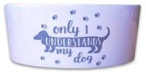 Миска керамическая для собак КерамикАрт My dog understands only I