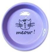 Миска керамическая для кошек КерамикАрт MEOW! 200 мл сиреневая