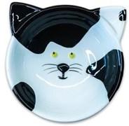 Миска керамическая для кошек КерамикАрт Черно-белая Кошка 120 мл