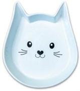 Миска керамическая для кошек КерамикАрт в форме мордочки кошки 200 мл