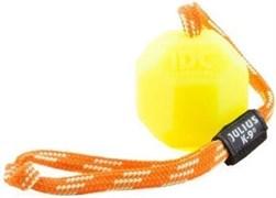 Особопрочная игрушка для собак JULIUS-K9 мяч светящийся с ручкой 6 см