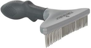 Гребень со вращающимися зубцами FURminator Rake длина зубцов 18 мм для кошек и собак