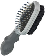 Двусторонняя щетка-расческа FURminator Dual Brush для кошек и собак длина зубцов 12 мм