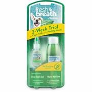 """Набор Tropiclean для ухода за зубами """"Свежее дыхание"""" Гель для чистки зубов и жидкая зубная щетка 2-Week Trial Kit"""