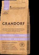 Сухой корм GRANDORF для взрослых собак малых пород с индейкой и бурым рисом Turkey/Brown Rice Adult Mini Breed