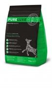Беззерновой сухой корм PURELUXE с индейкой и лососем для щенков и активных собак