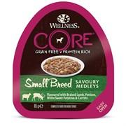Консервы беззерновые Wellness Core для собак с курицей, ягненком, олениной и овощами Small Breed Savoury Medleys Lamb, Venison, White Sweet Potatos and Carrots
