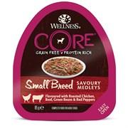 Консервы беззерновые Wellness Core для собак с курицей, говядиной и овощами Small Breed Savoury Medleys Chicken, Beef, Green Beans and Red Peppers