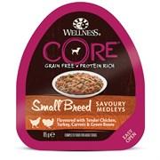 Консервы беззерновые Wellness Core для собак с курицей, индейкой и овощами Small Breed Savoury Medleys Chicken, Turkey Carrots and Green Beans