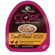Консервы беззерновые Wellness Core для собак с курицей, уткой и овощами Small Breed Savoury Medleys Chicken, Duck, Peas and Carrots