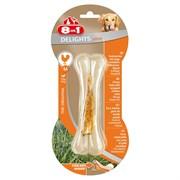 Косточка сверхпрочная для чистки зубов с куриным мясом для средних и крупных собак 8in1 DELIGHTS Strong M 14,5 см