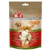 Косточки с куриным мясом для мелких и средних собак 8in1 DELIGHTS S 11 см 6 шт (пакет)