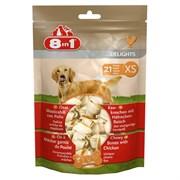 Косточки с куриным мясом для мелких собак 8in1 DELIGHTS XS 7,5 см 21 шт (пакет)