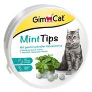 Витаминизированное лакомство для кошек GimCat Mint Tips с кошачьей мятой и витамином D