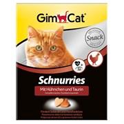 Витаминизированное лакомство для кошек GimCat Schnurries: Сердечки с курицей и таурином