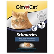 Витаминизированное лакомство для кошек GimCat Schnurries: Сердечки с лососем и таурином