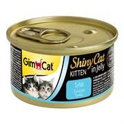 Консервы GimCat ShinyCat для котят из тунца в желе