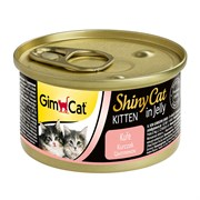 Консервы GimCat ShinyCat консервы для котят из цыпленка в желе