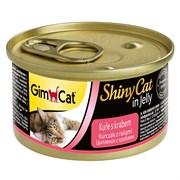 Консервы GimCat ShinyCat для кошек из курицы с крабом в желе