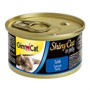 Консервы GimCat ShinyCat для кошек из тунца в желе