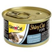 Консервы GimCat ShinyCat для кошек из тунца с креветками в желе