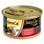 Консервы GimCat ShinyCat консервы для кошек из тунца с лососем в желе