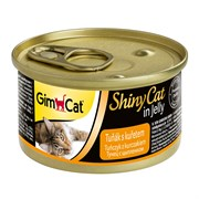 Консервы GimCat ShinyCat для кошек из тунца с цыпленком в желе