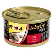 Консервы GimCat ShinyCat для кошек из цыпленка в желе