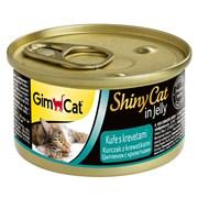 Консервы GimCat ShinyCat для кошек из цыпленка с креветками в желе