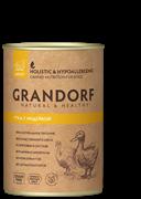 Консервы GRANDORF для собак всех пород с уткой и индейкой - новая упаковка