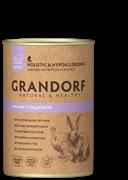 Консервы GRANDORF для собак всех пород с кроликом и индейкой - новая упаковка