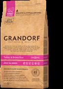 Сухой корм GRANDORF для взрослых собак всех пород с индейкой и бурым рисом Turkey/Brown Rice Adult All Breed