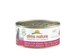 Консервы ALMO NATURE для взрослых кошек с курицей и тунцом HFC - Natural - Tuna and Chicken 150 гр