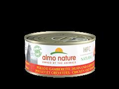 Консервы ALMO NATURE для взрослых кошек с курицей и креветками Natural - Chicken and Shrimps 150 гр